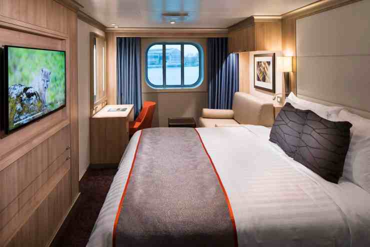 Ocean-view Stateroom Cat. C - Room #1095 Deck 1 Midship Starboard Koningsdam - Holland America Line