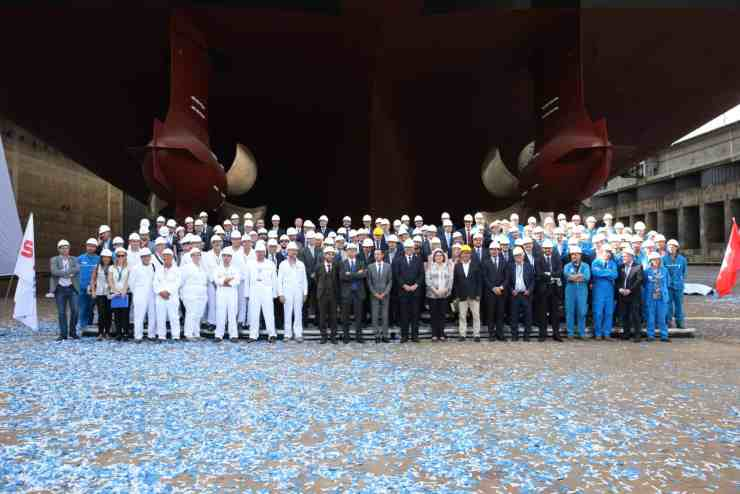 3. More than 120 guests gathered at STX France to celebrate the float out of MSC Meraviglia