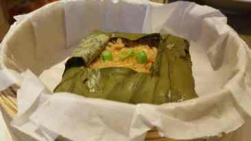 Rice wrapped in Lotus Leaf