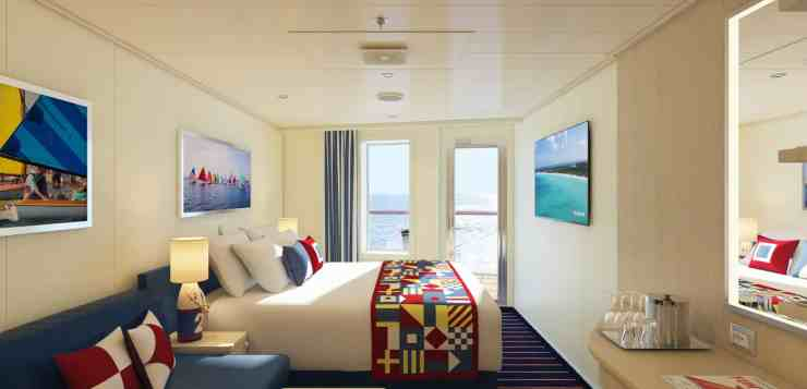 Family Harbor aft-view extended balcony cabins