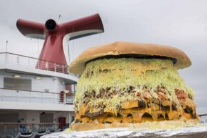 The largest hamburger at sea.