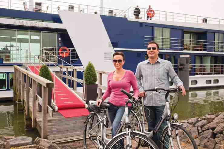Bicycles are available in ports