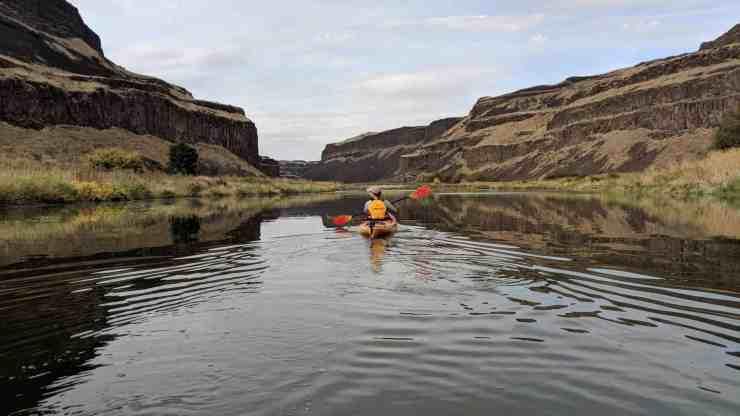 Palouse River kayaking