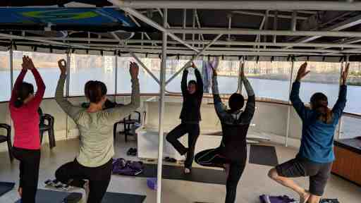 UnCruise Adventures SS Legacy yoga class