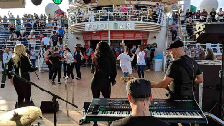 Navigator of the Seas Floating Festival sailaway party