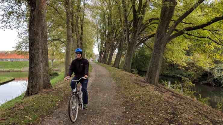 Biking in Enkhuizen, the Netherlands