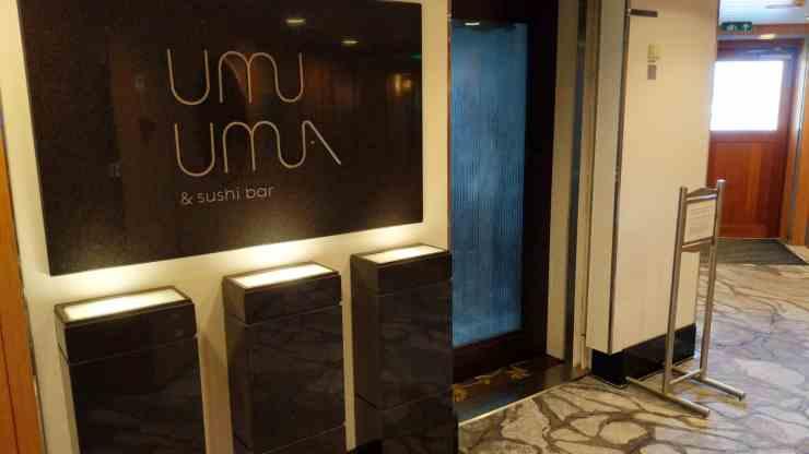 Umi Uma sushi restaurant on Crystal Serenity