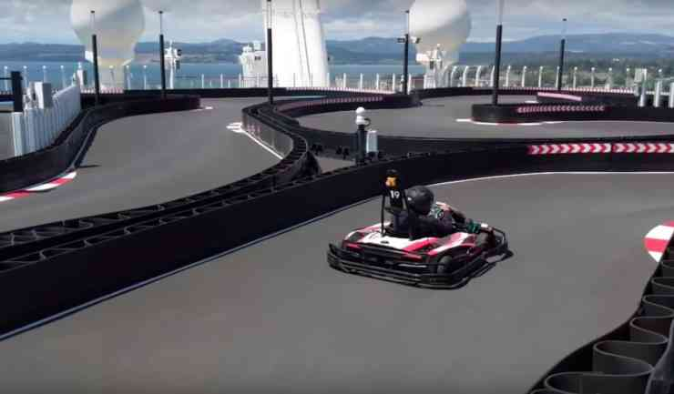 Go-kart track on Norwegian Bliss