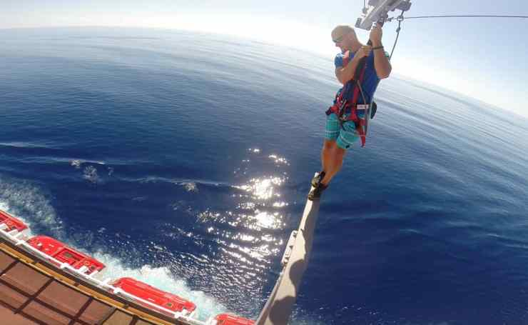 Ropes course walk the plank on Norwegian Cruise Line
