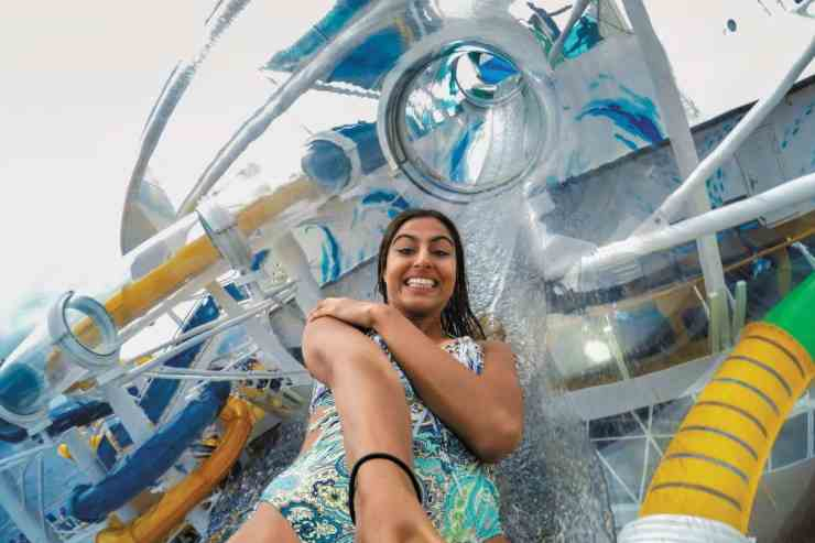 Perfect Storm water slides on Symphony of the Seas