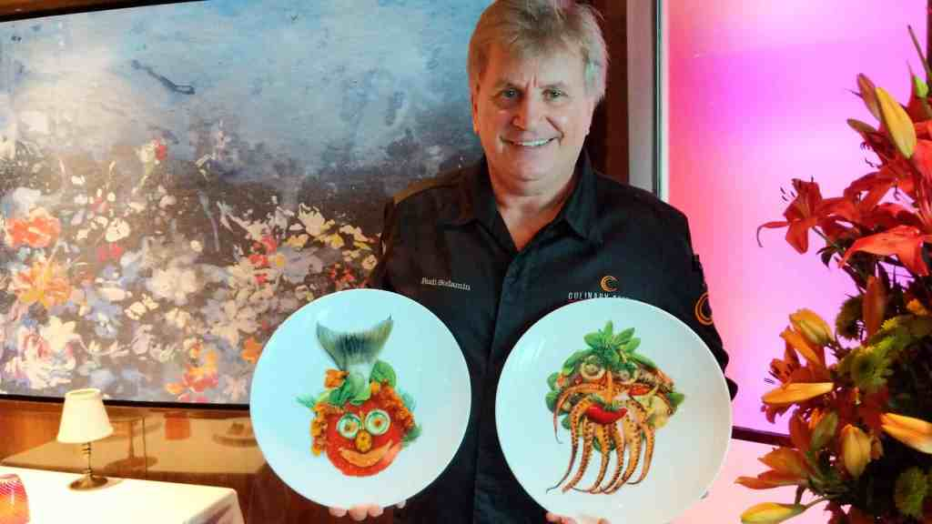 Rudi Sodamin and his plates featuring Food Faces