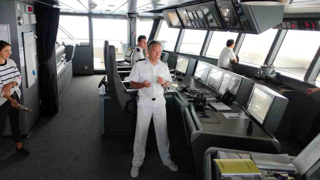 Captain Etienne Garcia on Ponant Le Laperouse