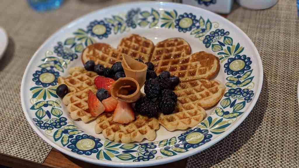 Mamsen's waffle on Viking Sky