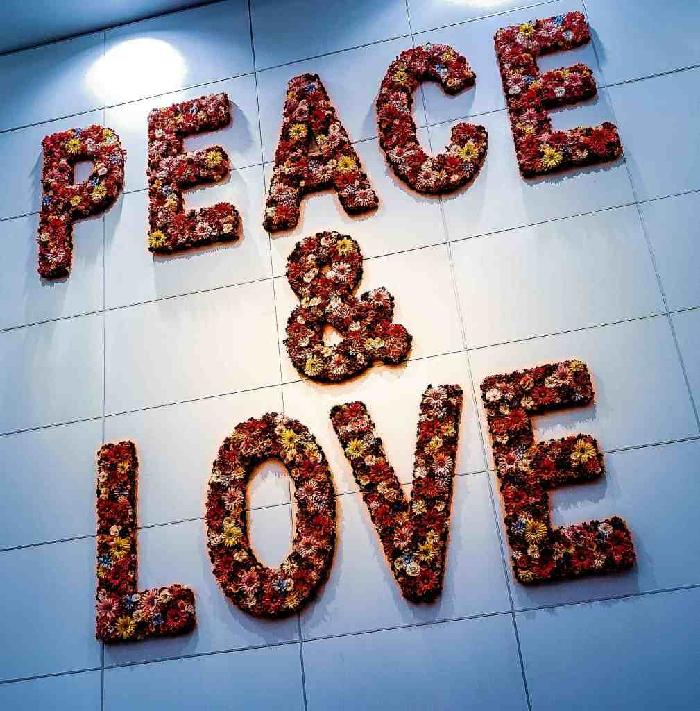 Peace & Love on Wall of Miami International Airport