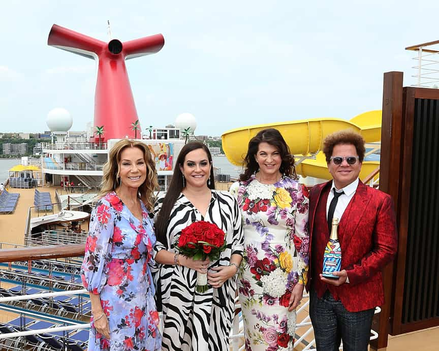 Carnival Sunrise with Kathie Lee Gifford, Kelly Arison, Madeleine Arison and artist Romero Britto