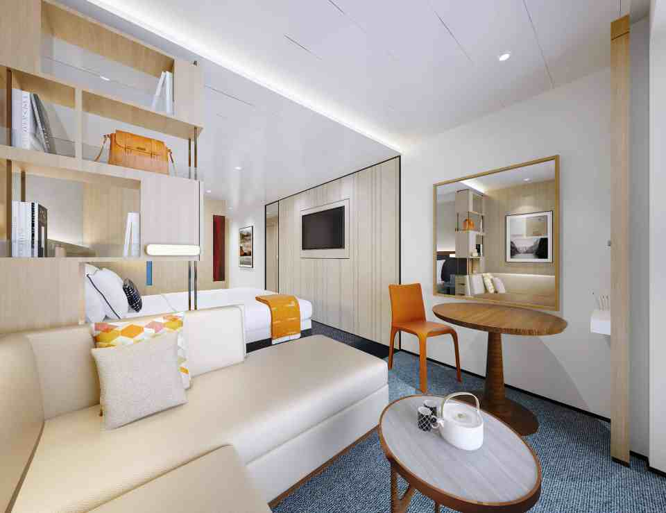 Rendering of the Viking Expedition ship: Nordic Balcony Stateroom (Credit: Viking)