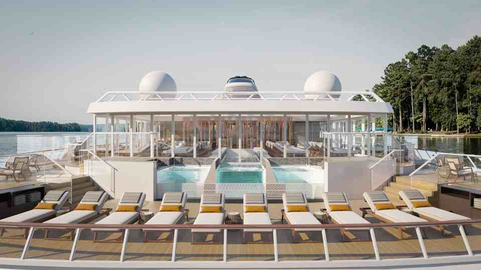 Rendering of the Aquavit Terrace and Infinity Pool on-board the Viking Expedition ship (Credit: Viking)