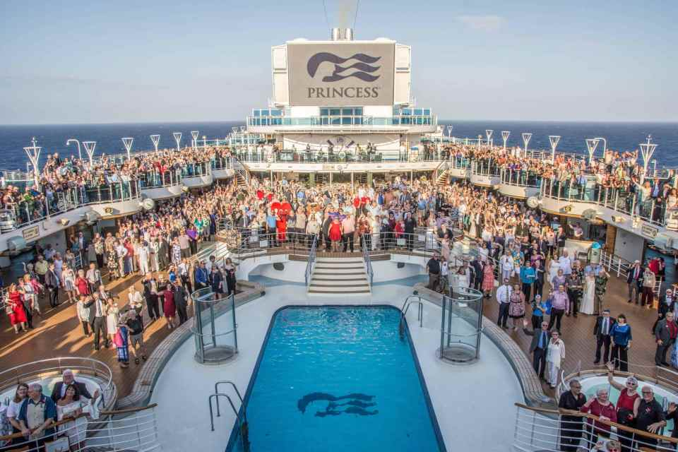 Regal Princess vow renewal ceremony 2020