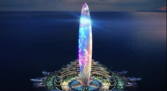 dubai harbour will include one of the tallest lighthouses in the world, modeled after the lighthouse of alexandria