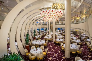 the dining room - deck 2 & 3 aft koningsdam - holland america line
