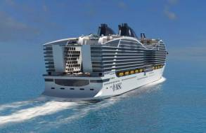 early renderings of msc world europa didn't include the spiral slide at the stern