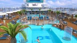 fountain pool aboard royal princess
