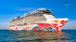 norwegian joy was recently refurbished to make her appeal more to american guests after a season in asia.