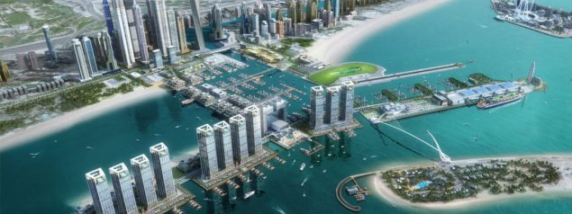 rendering of the dubai harbour project