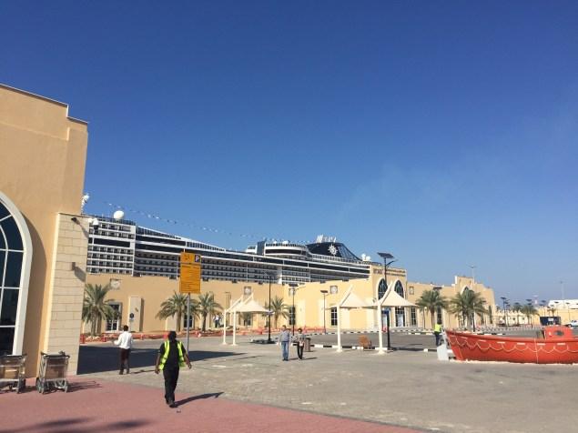 dubai cruise terminal 3 with msc splendida docked
