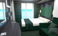 a standard balcony stateroom aboard msc bellissima