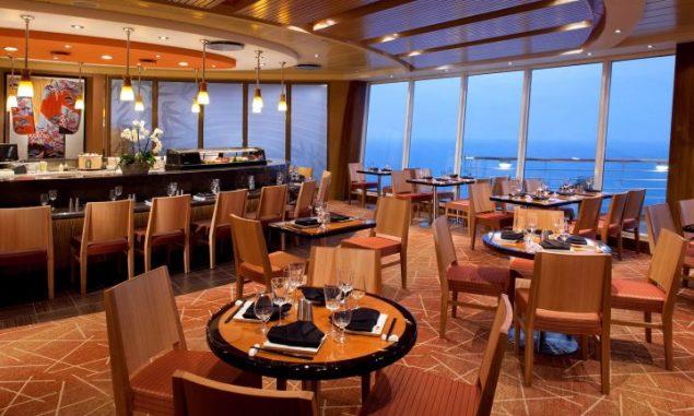 the asian themed izumi cafe aboard dubai-based jewel of the seas