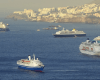 cruise ships anchor off funchal