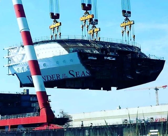 wonder of the seas construction