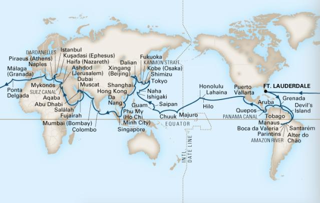 holland america 2022 world cruise
