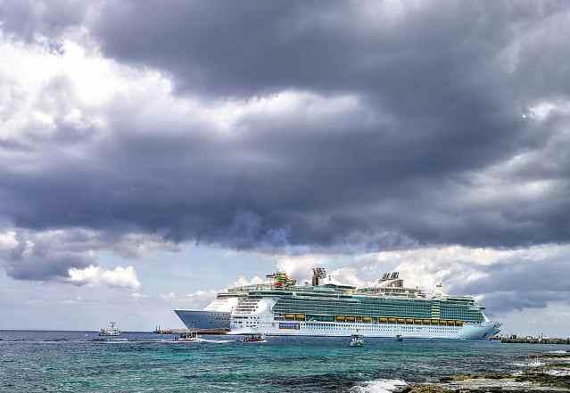 cruise ship storm clouds sky sea caribbean dark nature dramatic