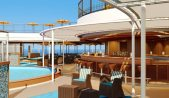 a rendering of the pool bar aboard costa firenze.