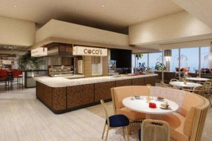 coco's at indulge food hall aboard norwegian prima