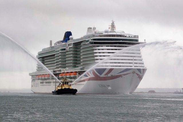 iona arrives in southampton