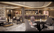 the martini bar aboard vista will be even more refined than others in the fleet
