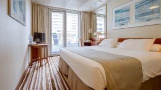premium balcony cabin aboard ambiance