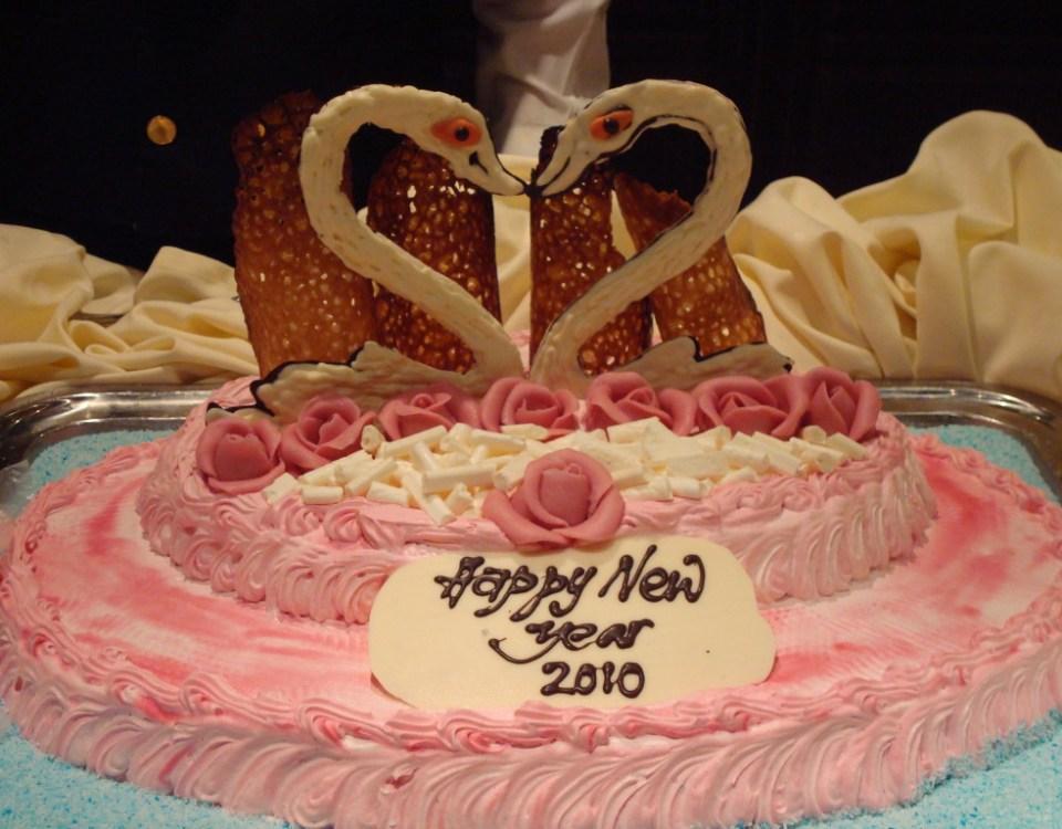Torte beim Neujahrsbuffet von MSC