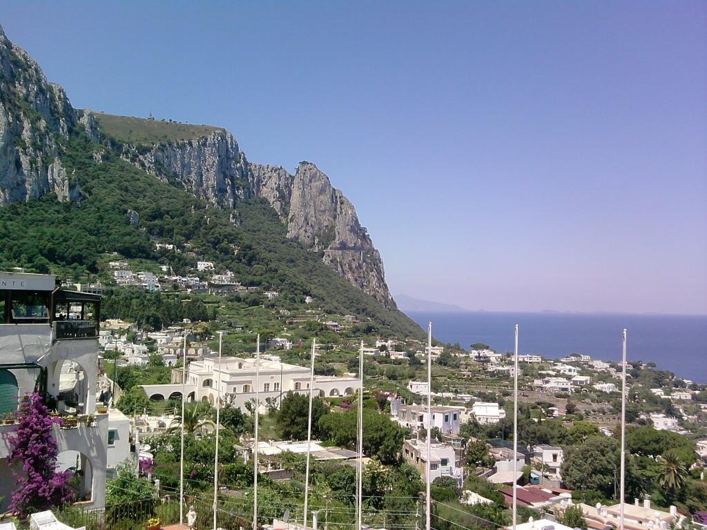 Blick auf die Insel Capri