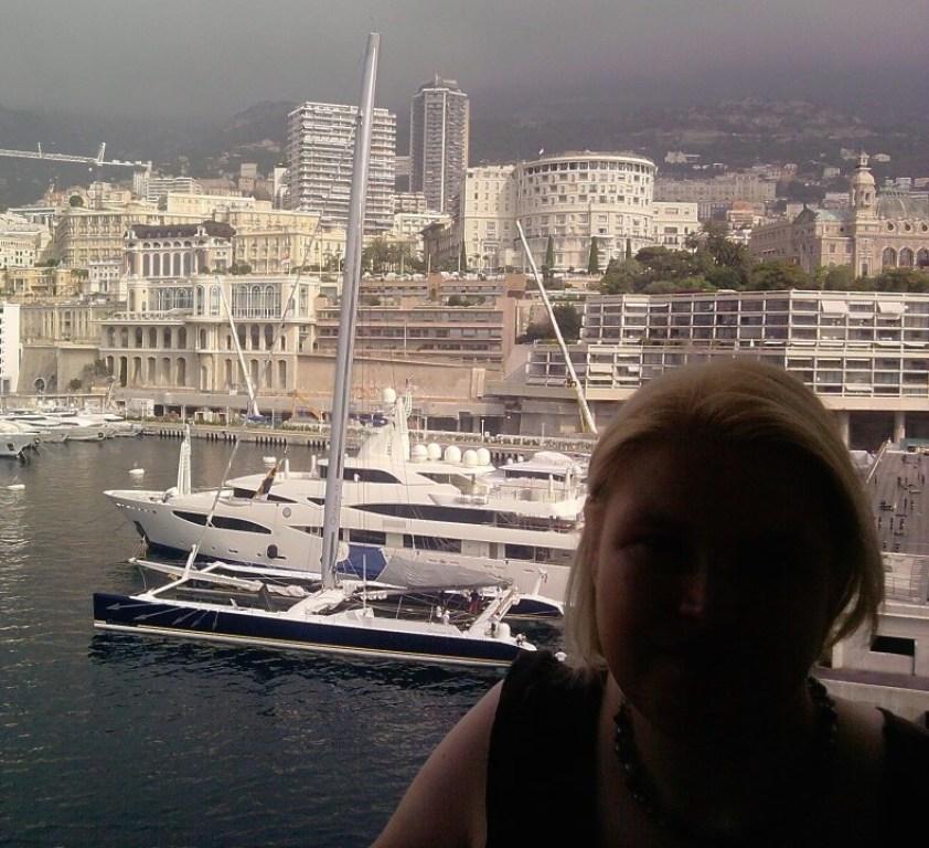 Blick auf den Hafen in Monaco