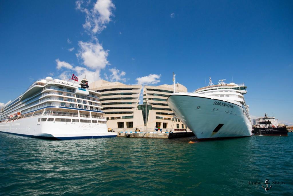 Cruise ships in Barcelona