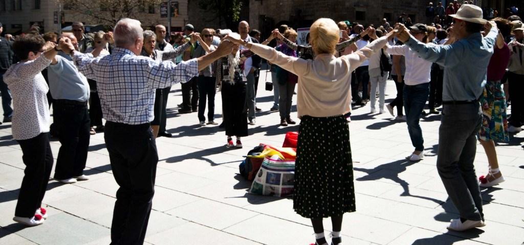 Sardana Tanz in Barcelona