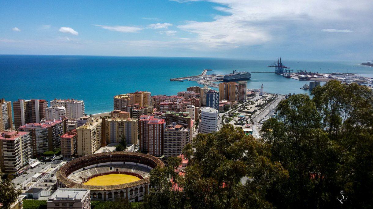 Aussicht auf die Stadt Malaga in Spanien