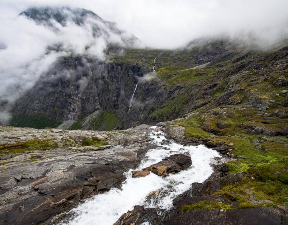 Waterfall Trollstigheimen in Norway