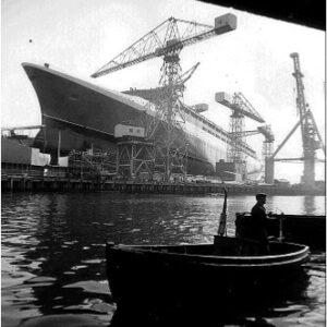 Q4 under construction in August 1967 - a month before her launch.