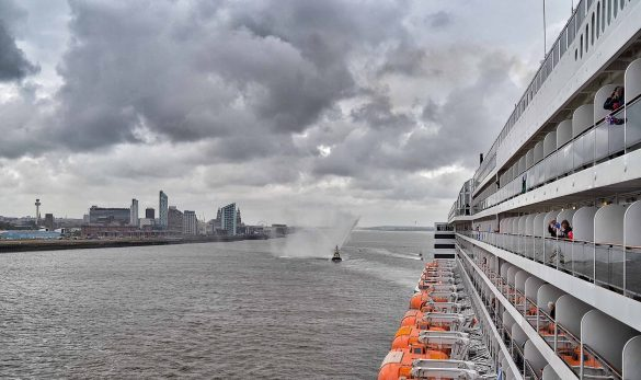 Cunard's Three Queens Perform River Dance on the Mersey in Salute to Liverpool Where the Company Began 175 Years Ago   20