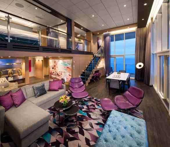 Royal Loft Suite Cat.RL - Room #1744 Deck 17 Midship Starboard Harmony of the Seas - Royal Caribbean International